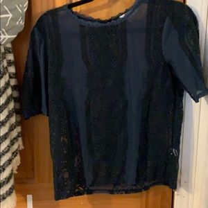 Tops - Navy Blue Blouse